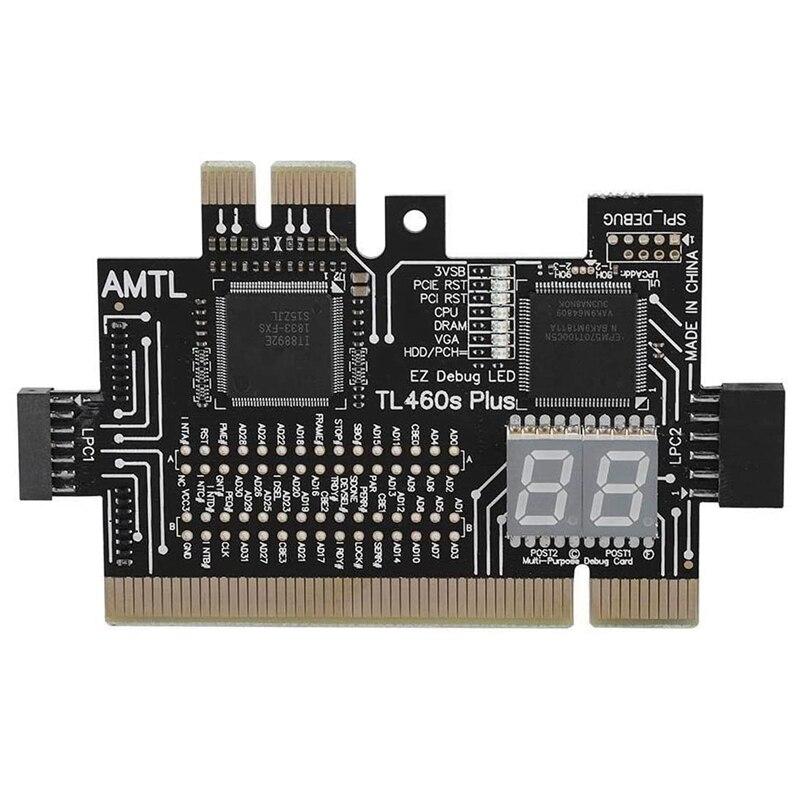 Multifunction pci pci-e mini pci-e lpc placa-mãe TL-460S teste de diagnóstico analisador tester debug cartões para desktop pc