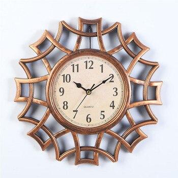 10 Inch Acrylic Retro Wall Clock Living Room Round Mute Quartz Clock Golden Black Silver Creative Wall Charts Bedroom Clocks