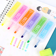 Love creative Candy-colored large-capacity highlighter marking graffiti learning office supplies