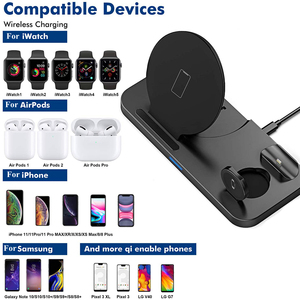 Image 2 - DCAE Fast Charging Dock Station 10W 3 in 1 Qi Wireless Charger Stand for iPhone 11 XS X 8 AirPods Pro Apple Watch iWatch 5/4/3/2