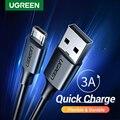 Кабель Micro USB Ugreen для телефонов Android, 3A, 0.25-3 м
