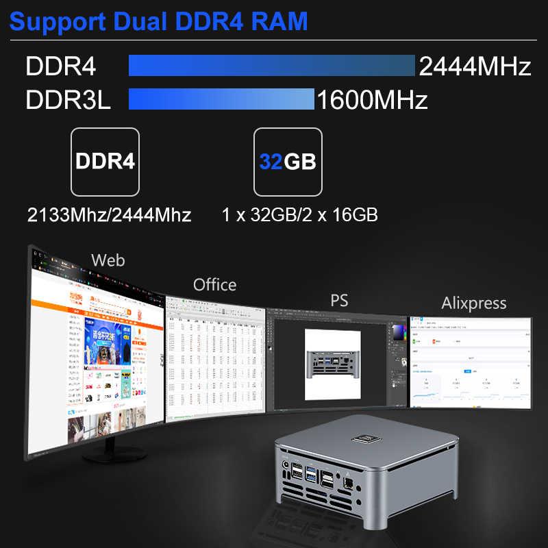 8th gen barebone mini pc intel core i9 9880h i7 9850h i5 gráficos de jogos dupla ddr4 m.2 desktop incorporado computador industrial