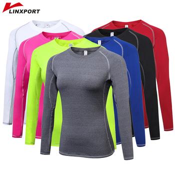 Damskie koszulki sportowe do jogi koszule z długim rękawem koszulki do szybkiego suszenia rajstopy do biegania koszulki z krótkim rękawem koszulki koszulki odzież sportowa tanie i dobre opinie Linxport WOMEN Poliester spandex Pełna Pasuje mniejszy niż zwykle proszę sprawdzić ten sklep jest dobór informacji