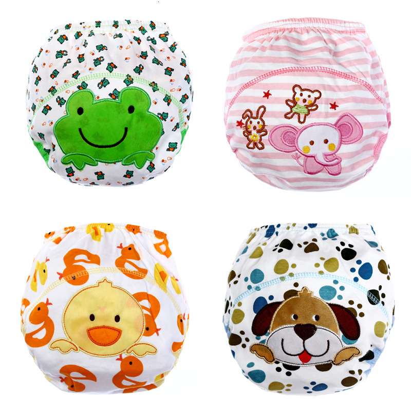 Baby Cotton Ventilation Training Pants Baby Diapers Reusable Cloth Diaper Washable Infants Children Underwear Changing Nappy