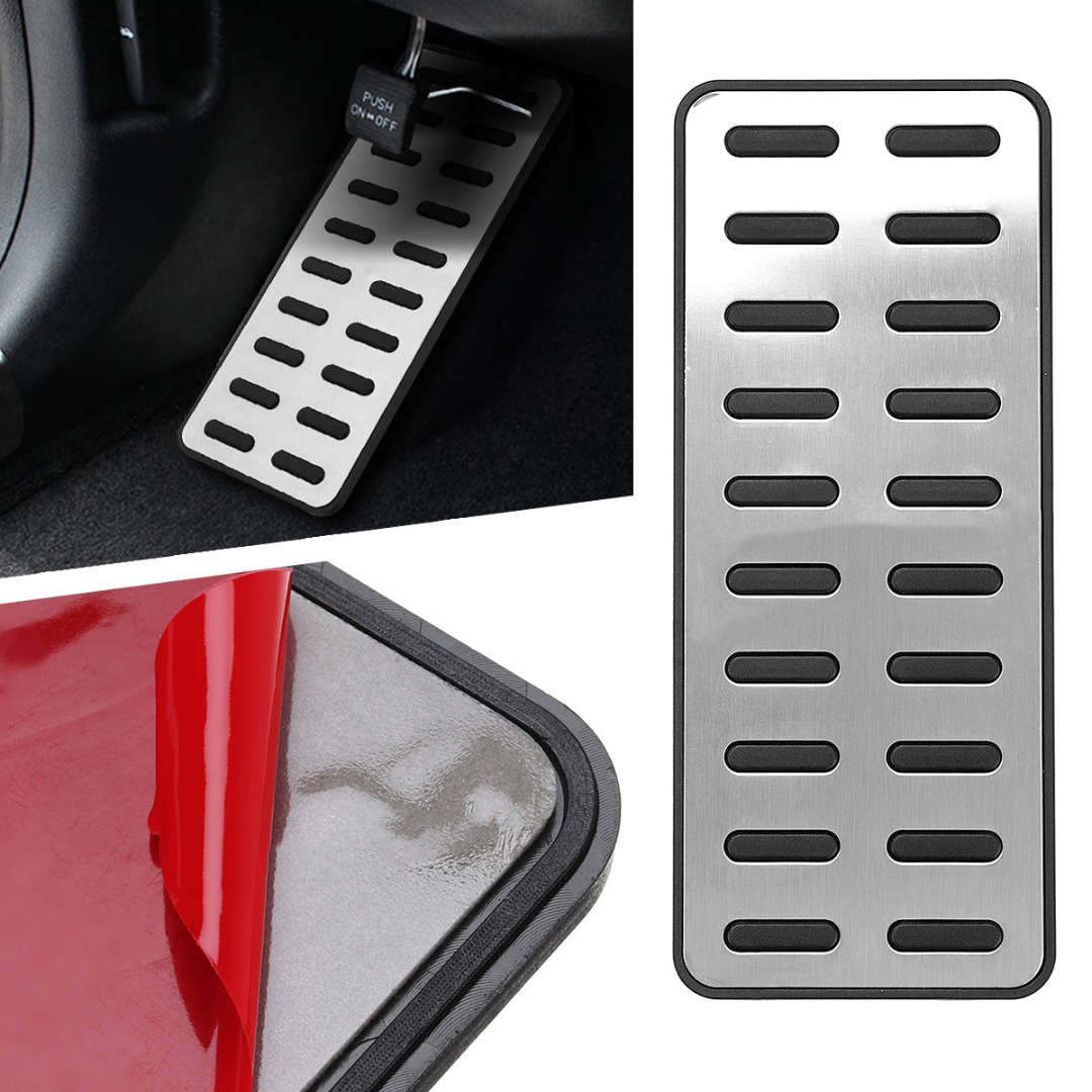 Mayitr 1pc Durable Alloy Footrest Auto Car Interior Foot Rest Pedal Cover For Hyundai Elantra i30 KIA Optima K5 image