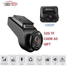 Doppia lente WiFi Car DVR Recorder Dash Cam T691C telecamera posteriore per veicoli videocamera GPS integrata 4K 2160P Dashcam per visione notturna