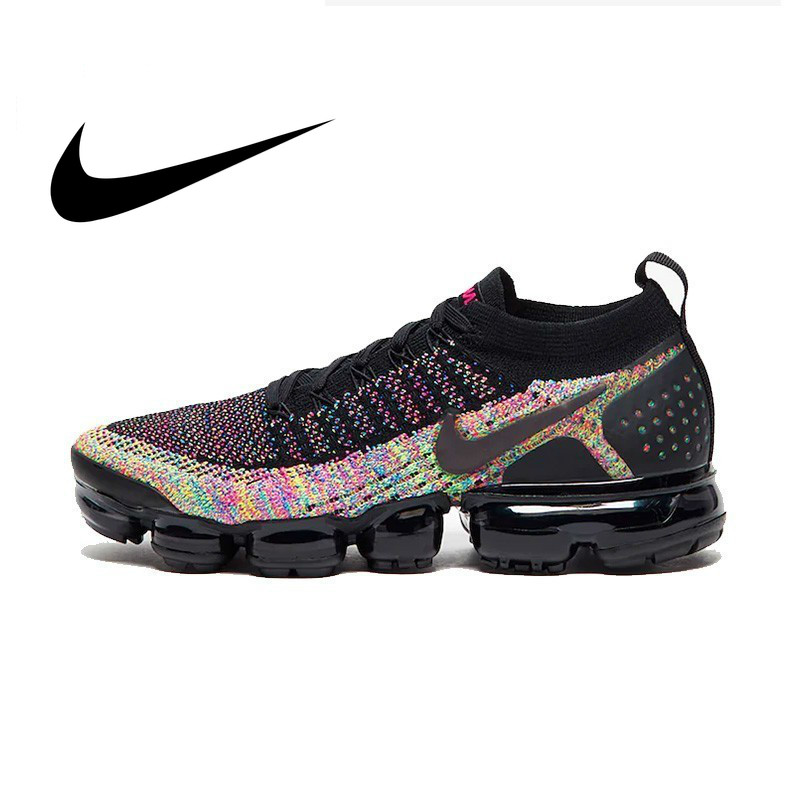 New Arrival NIKE AIR VAPORMAX FLYKNIT 2 Original Women's Running Shoes Lace-up Durable Breathable Sneakers Designer Footwear