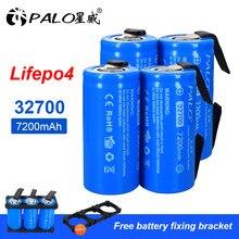 Nouveau 7200mAh 3.2V 32700 LiFePO4 batterie 35A décharge continue Maximum 55A haute puissance Batteries + bricolage Nickel feuilles