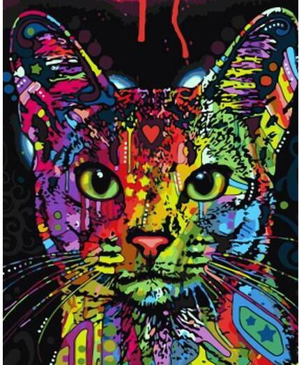 Oil Painting By Numbers Kitty Paint By Numbers For Adults Animals Cat DIY Pictures Canvas Painting Kits Verf Door Nummer