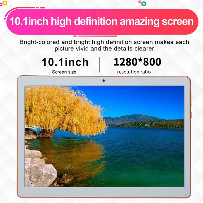 10.1inch Business Tablet With MT6582 Quad-Core Processor 1280X800 Resolution 1GB+16GB Memory 2G/3G(EU Plug)