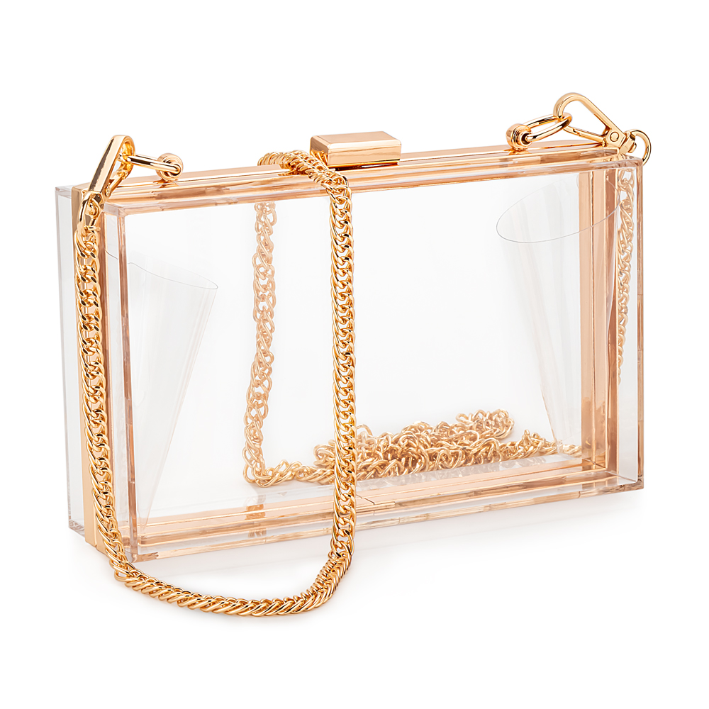 Clear Clutch Purse Shoulder-Bag Evening-Bag Stadium-Approved Acrylic Candy Transparent Crossbody