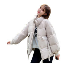 Women Short Thin Winter Jacket Stand Collar BIO Down Coat Oversize Cotton padded Parkas Casaco Feminino Mujer(China)