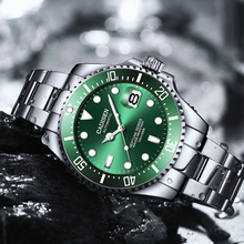 CADISEN 100M nurkowanie zegarki japonia NH35A ruch zegarek automatyczny mężczyźni luksusowy zegarek mechaniczny data zegar Relogio Masculino tanie tanio AIMIMO DESIGN 10Bar CN (pochodzenie) Klamerka z zapięciem Moda casual Mechaniczna nakręcana wskazówka Samoczynny naciąg