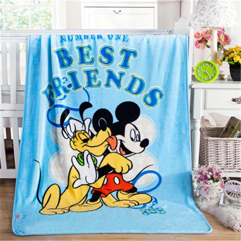 Disney Mickey Minnie souris point couverture doux flanelle jeter 100x140cm pour bébé filles garçons enfants cadeau chambre sur lit canapé
