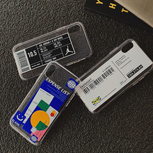 Hot Fashion Trend Bar Code Pattern Phone Case For i