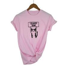 T-Shirt humoristique 100% coton pour femme, unisexe, décontracté et personnalisé, avec chats contre la truite, citation à la mode, grunge