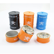 Poison Reagent Bucket Shape Herb Grinder Weed Tobacco Crusher Smoke Smoking Pipe Accessories Wholesale
