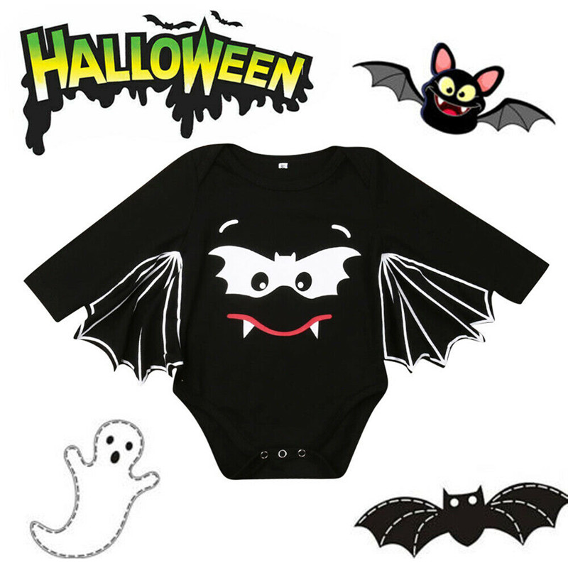 Bat Cosplay Romper Bodysuit Costume for Baby Boys Girls Halloween Fancy Outfits