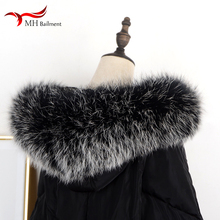 цена Winter New Coat 100% Real Fox Fur Collar Female Luxury Raccoon Authentic Warm Neck Fashion Brand Scarf Scarves Women Shawl W#32 в интернет-магазинах