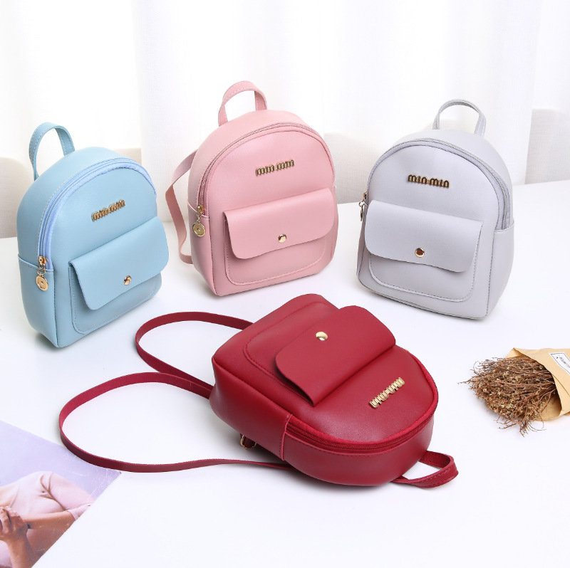 Women  Backpack  Small Shoulder Hand Bags Female Back Pack 2019 Simple Fashion Multi-Function Mini Bag For Little Girls