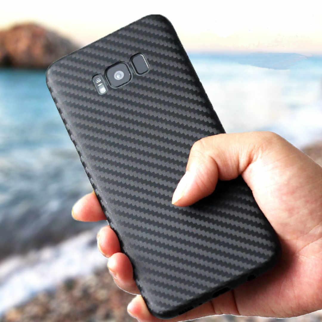 Scrub Carbon Fiber Soft Silicone For Samsung Galaxy A3 A5 A7 J1 J3 J5 J7 2016 2017 Grand Prime S8 S9 Plus Phone Cases Funda