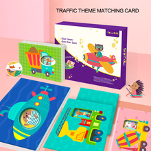 Baby Learning Cards Montessori Toys Flash Card Puzzle Match Jigsaw Children Educatioanl Game for kids