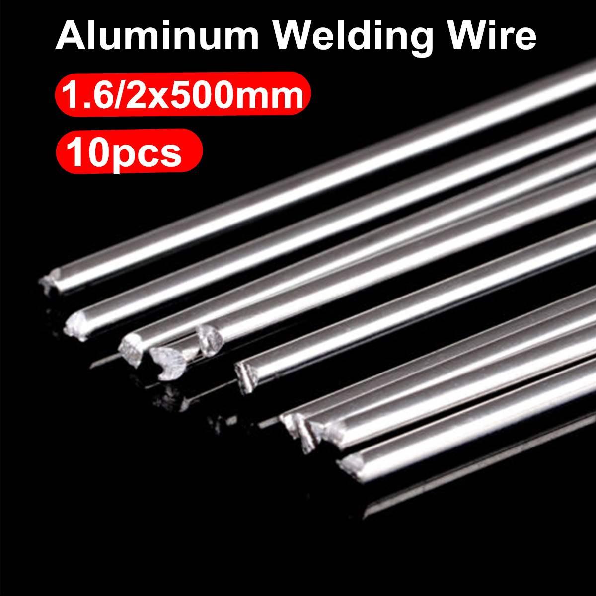 10pcs Aluminum Welding Rods Low Temperature Soldering Sticks Flux-Cored Rod Kits 1.6mm/2mm No Need Solder Powder