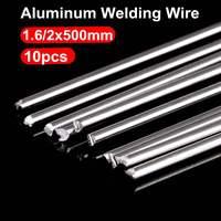 Varas de solda de alumínio sem 10 peças  varas de solda de baixa temperatura kits de haste fluxada 1.6mm/2mm necessidade de pó de solda