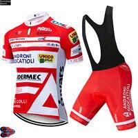 2019 zespół ANDRONI PRO jazda na rowerze Jersey 9D żel spodenki rowerowe garnitur MTB Ropa Ciclismo męskie letnie jazda na rowerze Maillot Culotte odzież w Zestawy rowerowe od Sport i rozrywka na