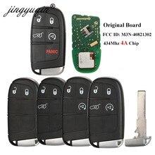 Jingyuqin 2/3/4 Tasten Smart Fernbedienung Schlüssel 433mhz 4A Chip Keyless Entry SIP22 Klinge für Jeep Renegade Kompass M3N-40821302