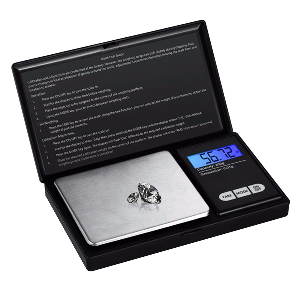 Electronic Scale Gold Medicinal Measuring Scale Precision Jewelry Scale Digital Weighing Grams Scale 500g/0.01g 200g/0.01g