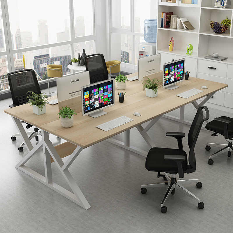 Computer desk contracted and contemporary four people work a simple table  screen booth staff office desks and chairs| | - AliExpress