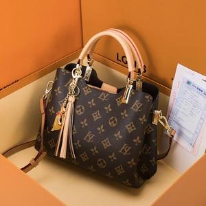 Female's Genuine Leather Top-handle Handbag 2020 New Fashion Designer Handbags High Quality Ladies one Shoulder Tote Bag bolsa