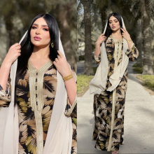 Spring New Arrival Arabic Long Sleeve Dress Ramadan Brown Abayas Islam Veiled Women Clothes Muslim Fashion Robe Jalabiya Kaftan