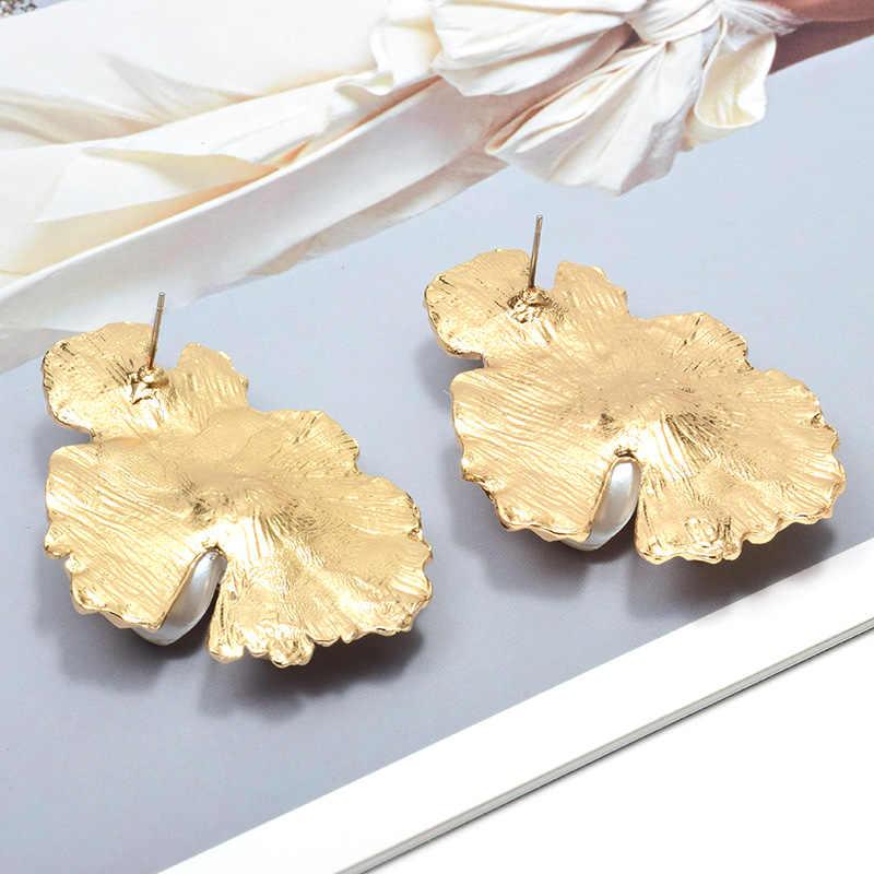 סיטונאי חדש זהב בצורת פרח צבעוני ריינסטון להתנדנד עגילים באיכות גבוהה אופנה מגמת קריסטל תכשיטי אבזרים