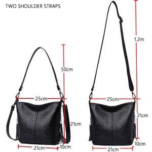 Image 4 - Женские ручные сумки через плечо для женщин 2020 роскошные сумки женские кожаные сумки через плечо сумка тоут дизайнерская женская сумка bolsa feminina