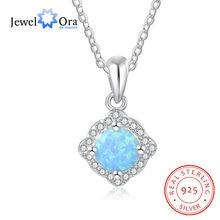 Женское Ожерелье из голубого опала jewelora ювелирное изделие