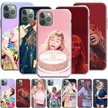 Miley cyrus silicone estojo para apple iphone 12 mini 11 pro se xs x xr max 8 7 6s 6 plus 5S