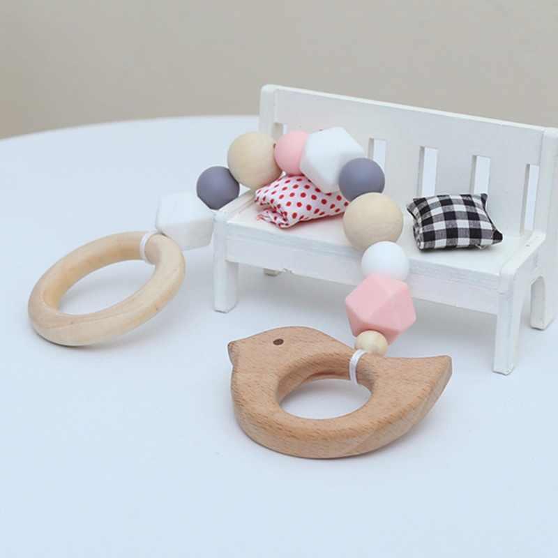 ตกแต่งสไตล์นอร์ดิกไม้ลูกปัดแขวนตกแต่งในครัวเรือนเด็กตกแต่งห้อง DIY Handmade ตกแต่งหัตถกรรม