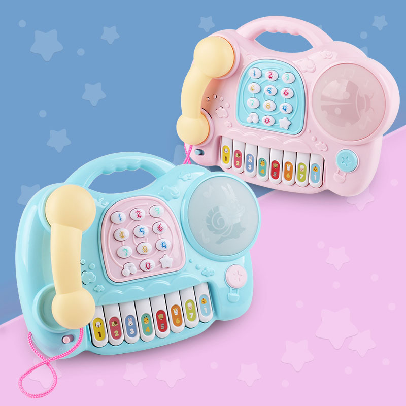 Learning & Education Toy Musical Instrument baby phone toy baby hand drums music toy electronic keyboard educational toys sale