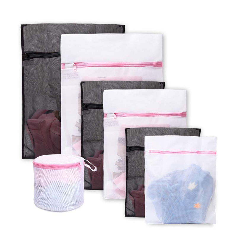 Laundry Wash Bag For Delicates,Zippered Washing Bags, Durable Mesh For Washing Machine,Set Of 7 Travel Bag For Blouse, Hosiery,