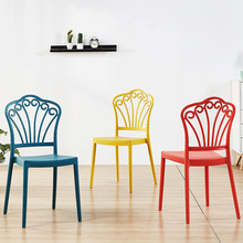 Modern plastic chair restaurant dining chair restaurant office meeting business chair Nordic home bedroom learning plastic chair цена и фото