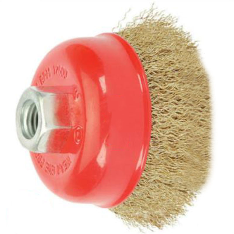 "2 Wire Cup Brush Wheel 3/"" 115mm Angle Grinder Crimped Cup 75mm for 4-1//2/"""