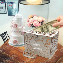 DIY Wooden Wedding Card Box With Lock Sign Rustic Money Greeting Graduation Baby Shower Birthday Party Anniversary