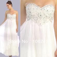 free shipping 2018 Chiffon Strapless Brides bridal Gown sexy sweetheart Homecomi