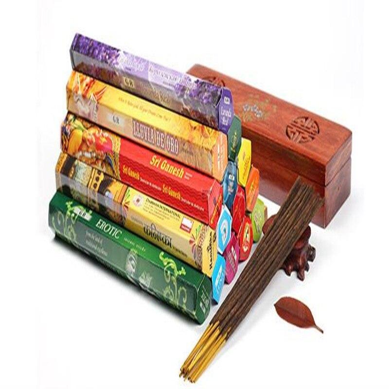 Upgraded 180pcs mix 12 type Indian incense stick Aromatherapy Fragrance Fresh Air perfumes aromaterapia sachet aroma