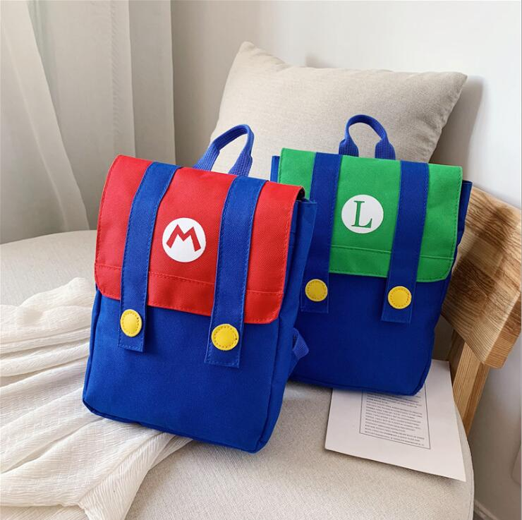 Super Mario Backpack Baby Toddle Kids Bag Baby Boy Girl Children Cute Cartoon Character Monster Kids Small School Bag
