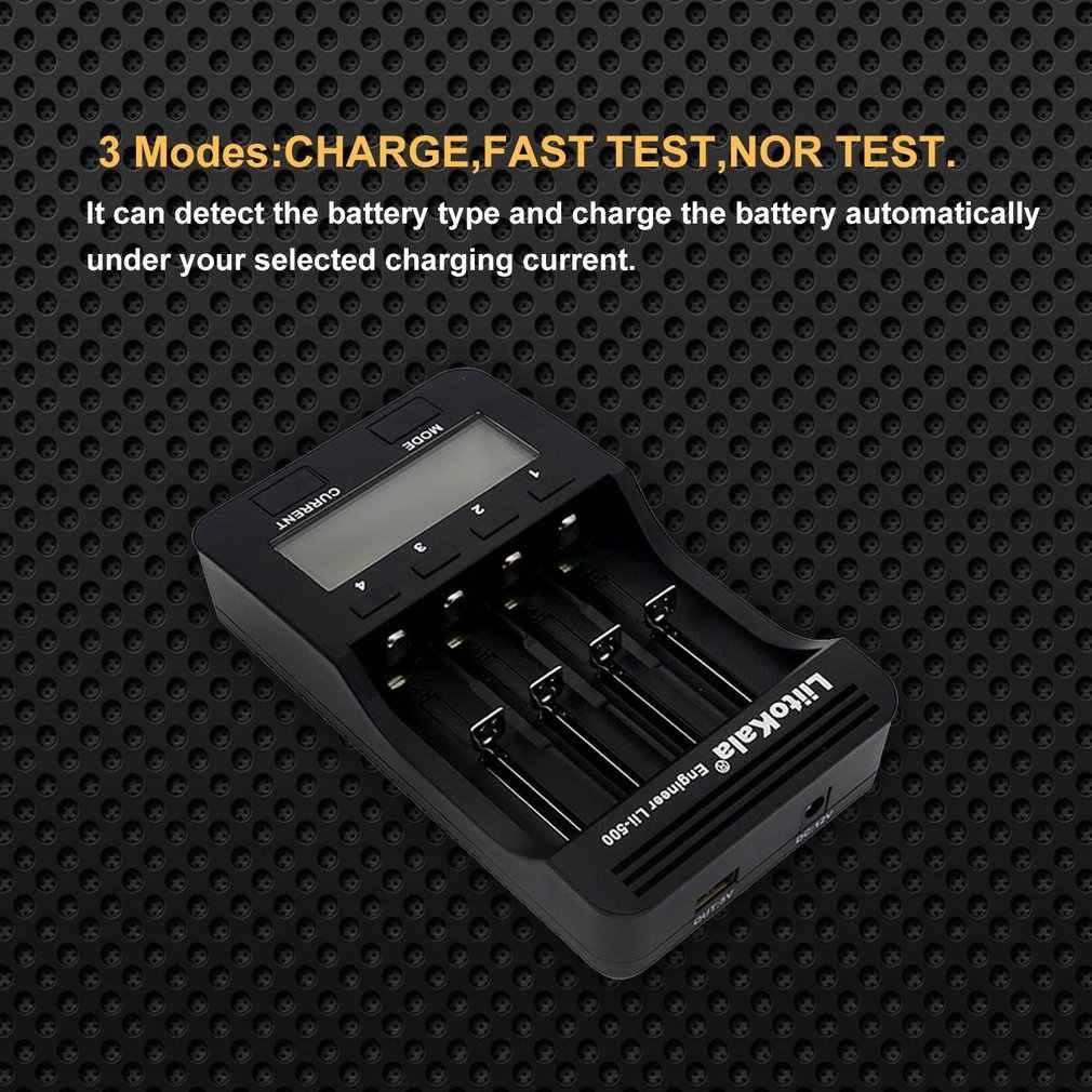 Lii-500 18650 wyświetlacz LCD ładowarka 26650 21700 14500 10440 4 gniazda NiMH akumulator litowo-jonowy inteligentny uniwersalna ładowarka baterii