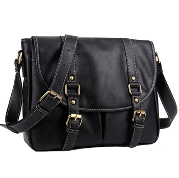 Large-Capacity Travel Bag First Layer Leather Business Trip Business Retro Fashion Crossbody Shoulder фото