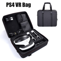 New Portable Carrying Case Storage Bag for PS4 VR Glasses and Move Motion Controller Durable Hard EVA Nylon Handbag with Strap